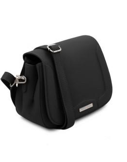 Женская черная небольшая кожаная сумка Tuscany Leather TL141968 Jasmine