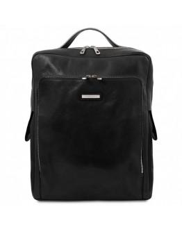 Черный удобный и вместительный рюкзак Tuscany leather TL141987 black Bangkok