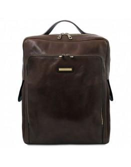 Темно-коричневый большой кожаный рюкзак Tuscany leather TL141987 brown Bangkok