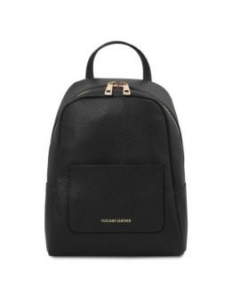 Небольшой черный женский кожаный рюкзак Tuscany Leather TL142052 TL Bag
