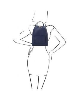 Синий женский кожаный небольшой рюкзак Tuscany Leather TL142052 TL Bag blue