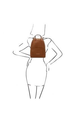 Коричневый женский небольшой рюкзак Tuscany Leather TL142052 TL Bag brown