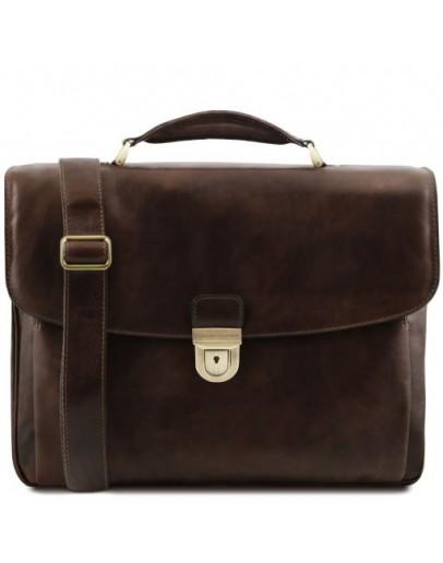 Фотография Темно-коричневый мужской фирменный портфель Tuscany Leather TL142067 Alessandria bbrown
