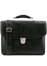 Черный фирменный кожаный рюкзак Tuscany Leather TL142067 Alessandria black