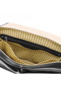 Кожаная сумка - портфель черная Tuscany Leather TL142068