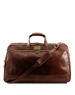 Кожаная фирменная дорожная средняя сумка Tuscany Leather Bora Bora TL3065