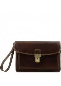 Кожаная мужская коричневая барсетка Tuscany Leather TL8075
