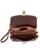 Фотография Кожаная мужская коричневая барсетка Tuscany Leather TL8075