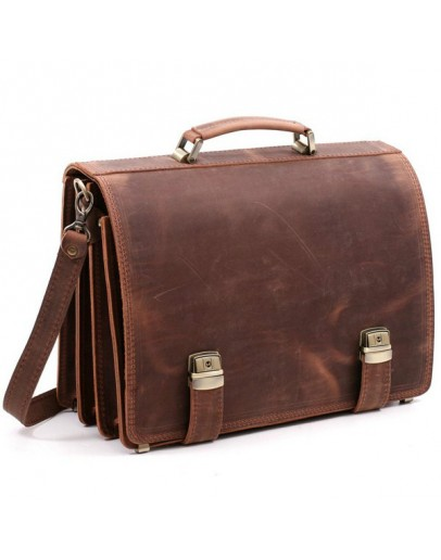 Фотография Стильный портфель модного коричневого цвета Manufatto tm-1 kr