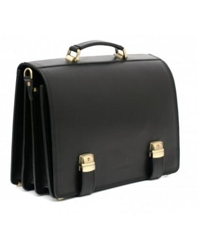 Фотография Черный модный мужской портфель Manufatto tm-1 гладкий