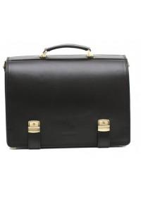 Черный модный мужской портфель Manufatto tm-1 гладкий