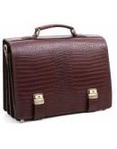 Фотография Коричневый рифлёный кожаный портфель Manufatto tm-1 brown cr
