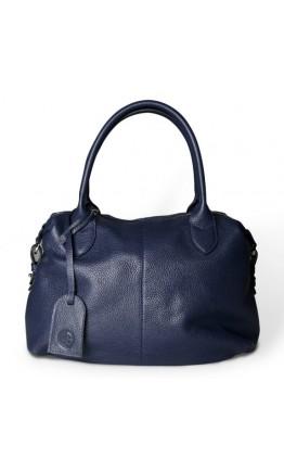 Синяя кожаная женская сумка Topy U2 blue