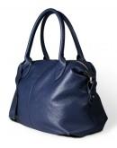 Фотография Синяя кожаная женская сумка Topy U2 blue