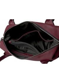Красная женская кожаная сумка Topy U3 red