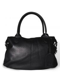 Женская кожаная чёрная сумка Topy U1 black