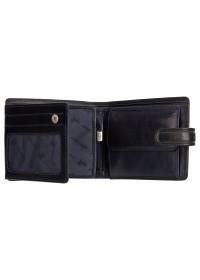 Черный кожаный кошелек Visconti TR35 Atlantis c RFID (Black Blue)
