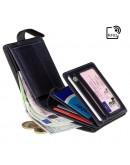 Фотография Черный кожаный кошелек Visconti TR35 Atlantis c RFID (Black Blue)