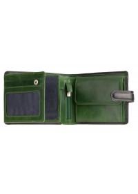 Черный кожаный оригинальный кошелек Visconti TR35 Atlantis c RFID (Black Green)