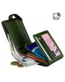 Фотография Черный кожаный оригинальный кошелек Visconti TR35 Atlantis c RFID (Black Green)