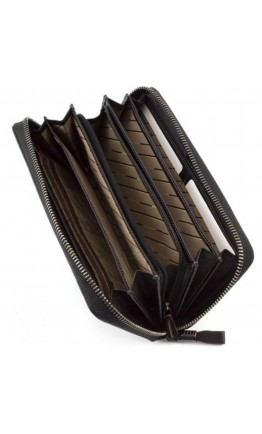 Черный кожаный клатч - кошелек Marco Coverna TRW8575A