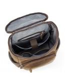 Фотография Вместительный кожаный мужской винтажный рюкзак Vintage 14887