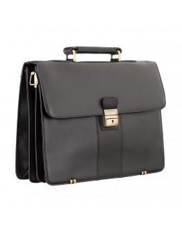 Чёрный кожаный мужской портфель Visconti 01775 - Warwick (black)