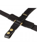 Фотография Чёрный кожаный мужской портфель Visconti 01775 - Warwick (black)