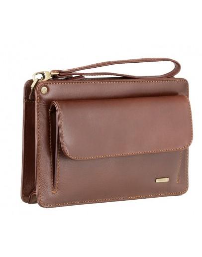 Фотография Кожаная коричневая мужская барсетка Visconti 02617 - Ted (brown)