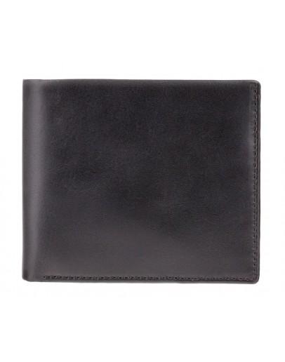 Фотография Кожаный чёрный мужской кошелёк Visconti PM101 Pablo (black/cobalt)