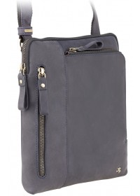 Мужская кожаная синяя сумка Visconti 15056 - Roy (Blue)