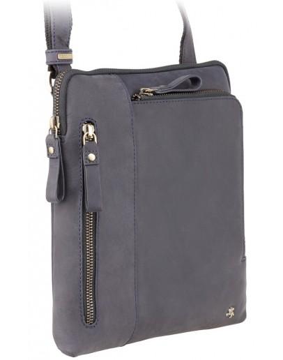 Фотография Мужская кожаная синяя сумка Visconti 15056 - Roy (Blue)