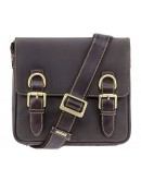 Фотография Небольшая кожаная сумка на плечо Visconti 16012 Rumba (Оil Brown)