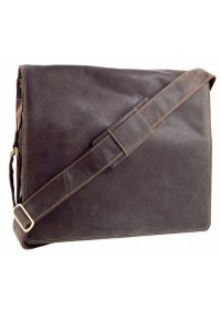 Большая сумка мужская на плечо Visconti 16054XL Harward (oil brown)