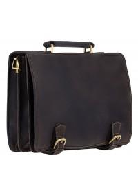 Шикарный кожаный портфель Visconti 16134 XL hulk oil brown