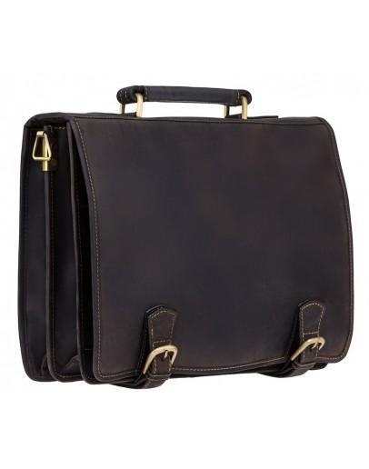 Фотография Шикарный кожаный портфель Visconti 16134 XL hulk oil brown