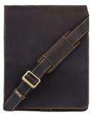 Фотография Вместительная сумка из кожи на плечо Visconti 18410 Jasper (Оil Brown)