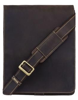 Вместительная сумка из кожи на плечо Visconti 18410 Jasper (Оil Brown)