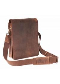 Коричневая сумка из натуральной кожи Visconti 18563 Leo (Oil Tan)