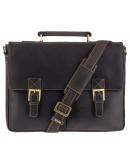 Фотография Удобный кожаный мужской портфель Visconti 18716 - Berlin (oil brown)