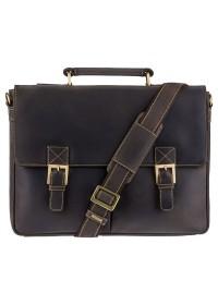 Удобный кожаный мужской портфель Visconti 18716 - Berlin (oil brown)