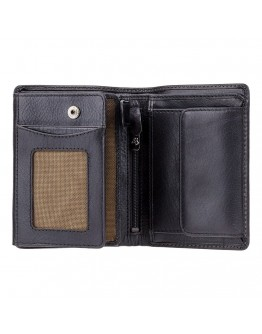 Чёрное кожаное портмоне Visconti TSC44 Lucca (Black) с RFID