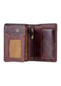 Тёмно-коричневое мужское портмоне Visconti TSC44 Lucca (Brown) с RFID