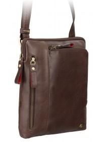 Сумка коричневая на плечо из натуральной кожи Visconti ML20 Roy (brown)