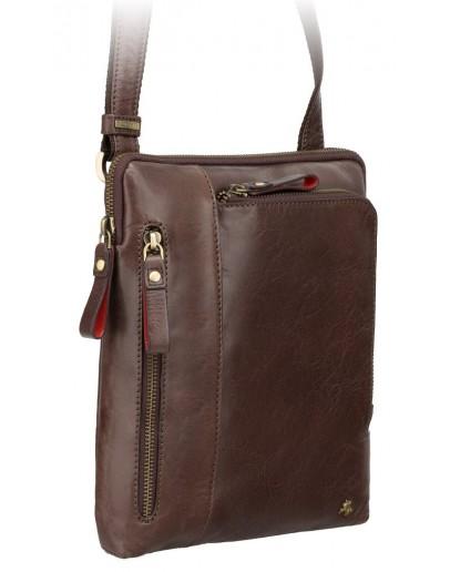 Фотография Сумка коричневая на плечо из натуральной кожи Visconti ML20 Roy (brown)