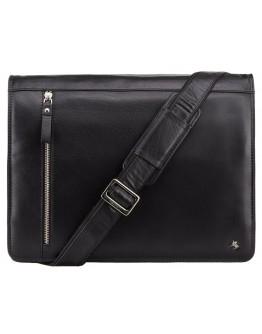Вместительная чёрная сумка на плечо Visconti ML23 Carter (black)