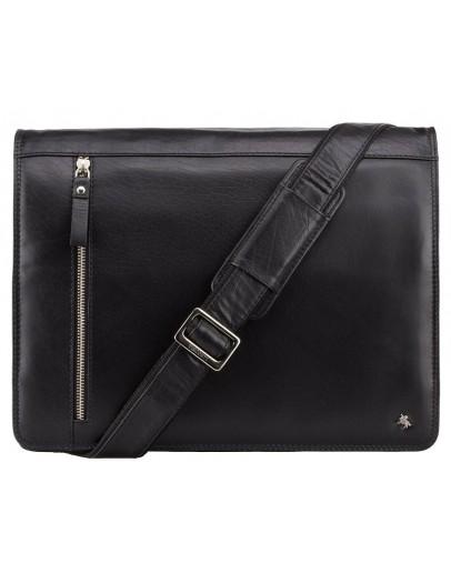 Фотография Вместительная чёрная сумка на плечо Visconti ML23 Carter (black)