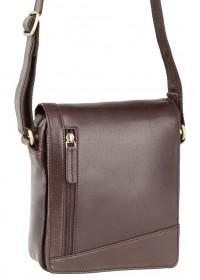 Маленькая коричневая сумка на плечо Visconti S7 (brown)