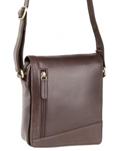 Фотография Маленькая коричневая сумка на плечо Visconti S7 (brown)