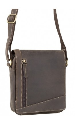 Тёмно-коричневая маленькая сумка на плечо Visconti S7 (oil brown)